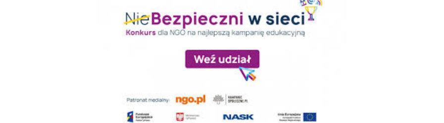 """""""NieBezpieczni w sieci"""" - konkurs dla organizacji pozarządowych"""
