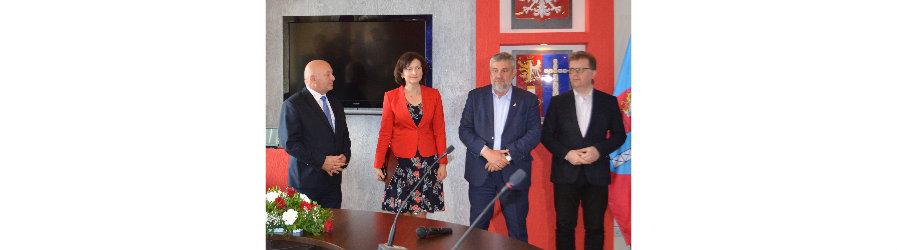 Minister rolnictwa i rozwoju wsi Jan Krzysztof Ardanowski odwiedził powiat krośnieński