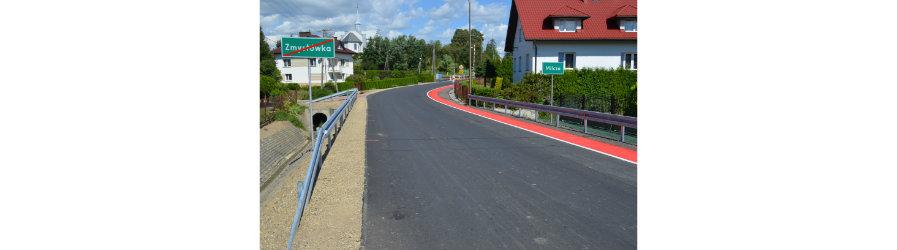 Droga powiatowa Milcza - Besko przebudowana