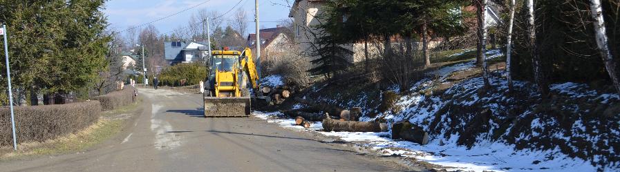 Trwają prace na drodze powiatowej w Klimkówce
