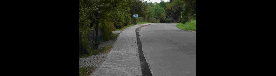 Nowy chodnik w Chorkówce