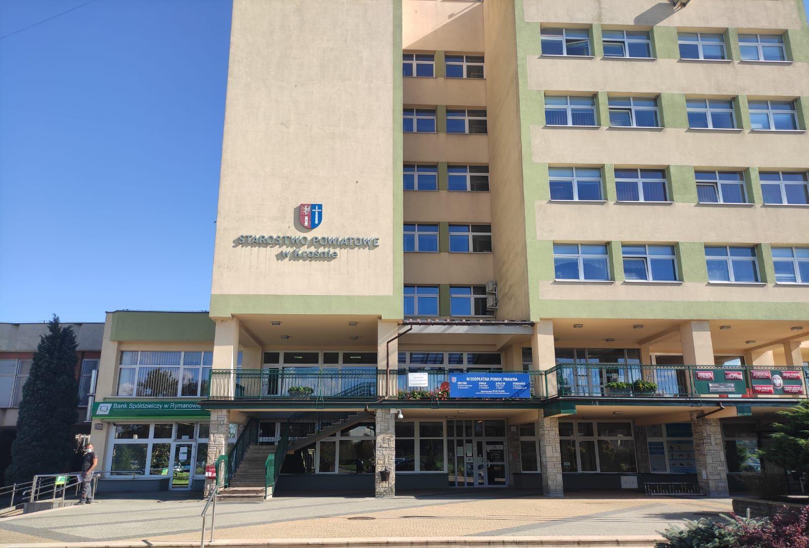 Zdjęcie budynku Starostwa Powiatowego w Krośnie